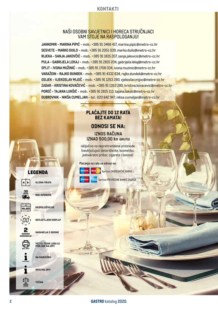Metro Gastro Katalog Stranica 1